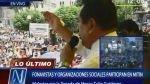 Marco Tulio fue pifiado por fonavistas y transportistas en Plaza San Martín - Noticias de fonavi