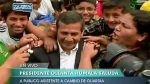 Ollanta Humala se dio un nuevo baño de popularidad tras encuesta que lo desfavorece - Noticias de cambio de guardia