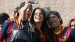 FOTOS: la bella novia de Neymar se mostró feliz en Barcelona - Noticias de david lucca