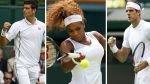 Wimbledon: Djokovic, Williams y Del Potro avanzaron a la segunda rueda - Noticias de serena salgado