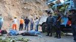 Jaén: accidente que dejó 11 muertos ocurrió por exceso de velocidad - Noticias de accidente en jaén