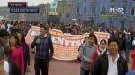 Trabajadores administrativos del Minsa marchan hacia sede ministerial - Noticias de fenutssa