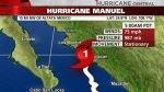 """Huracán """"Manuel"""" llega a la costa del noroeste de México - Noticias de meteoro"""