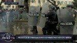 VIDEO: así fue el violento enfrentamiento entre trabajadores del Minsa y Policía - Noticias de fenutssa