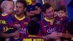 Neymar y Messi coincidieron con sus hijos en el Camp Nou [VIDEO] - Noticias de david lucca
