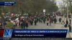 Trabajadores del sector salud se sumaron a la protesta de la CGTP - Noticias de fenutssa
