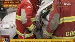 San Miguel: mujer quedó atrapada entre los fierros tras choque en la Costa Verde - Noticias de jenifer bazan