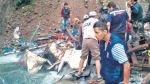Cusco: investigan si chofer de camión que cayó en Santa Teresa estaba ebrio - Noticias de sullucuyoc