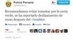 Tras caída de rocas por sismo: se recomienda no transitar por la Costa Verde - Noticias de paloma duarte