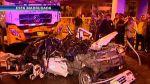 Taxi Tico fue aplastado por dos camiones, murieron sus ocupantes [VIDEO] - Noticias de roberto rojas