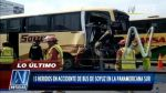 Choque de bus de Soyuz con un tráiler dejo 25 heridos en la Panamericana Sur - Noticias de empresa soyuz