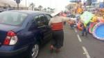 Ambulantes continúan ocupando parte de la vía en el peaje de Villa - Noticias de venta ambulatoria