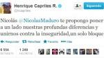Capriles pide tregua a Maduro para luchar contra la inseguridad - Noticias de henry thomas barry