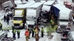 EE.UU.: Choque múltiple de camiones deja tres muertos - Noticias de choque múltiple