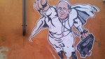 Vaticano difundió una imagen de Francisco como Supermán - Noticias de graffiti papa francisco