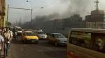 Vehículo particular se incendió debajo de plaza Unión - Noticias de accidente de transito