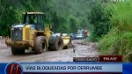 Vehículos quedaron varados por huaicos en Chanchamayo - Noticias de huancabamba