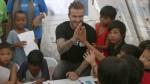 Beckham visita a niños filipinos afectados por tifón Haiyan - Noticias de tifón haiyan