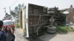 Un bus se salió de la pista con 34 pasajeros a bordo - Noticias de otuzco