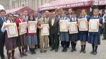 Escolares que ingresaron al Colegio Mayor fueron agasajados - Noticias de loncheras saludables