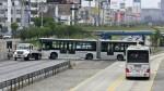 Bus del Metropolitano fue remolcado tras falla en Vía Expresa - Noticias de fallas en el metropolitano