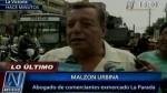 """Malzón Urbina: """"No hay orden de desalojo de La Parada"""" - Noticias de malzón urbina"""