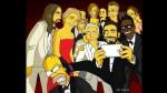 """""""Los Simpson"""" también recrearon el 'selfie' del  Oscar - Noticias de homer groening"""