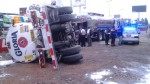 Camión lleno de leche se volcó en la Panamericana Norte - Noticias de leche gloria