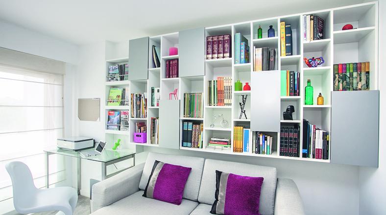 Dise o de libreros imagui for Libreros para oficina