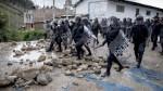 Antimineros bloquearon vías en marcha contra proyecto Conga - Noticias de bambamarca