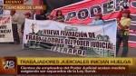 Trabajadores del Poder Judicial acatan una huelga indefinida - Noticias de escala remunerativa