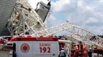 Obrero muere tras caer de tribunas de estadio mundialista - Noticias de accidentes de trabajo