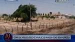 Pobladores convierten complejo arqueológico en zona agrícola - Noticias de cultura lambayeque