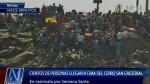 Caos en cerro San Cristóbal por peregrinaje de miles de fieles - Noticias de viernes santo