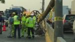 Caída de poste generó congestión vehicular en Panamericana Sur - Noticias de puente primavera
