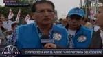Trabajadores de la CTP marchan por derogatoria de Ley Servir - Noticias de ley servir