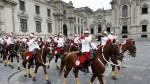 Humala 'encabezó' el cambio de guardia desde una ventana - Noticias de cambio de guardia