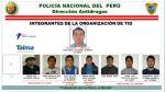 Presentan banda que traficaba droga desde el Jorge Chávez - Noticias de detenidos