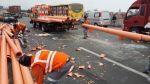 Evitamiento: camión mediano se volcó y causó gran congestión - Noticias de accidentes de tránsito